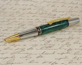 Malachite and Lapis Lazuli Ballpoint Pen 3356