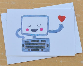 Illustrated Computer Card
