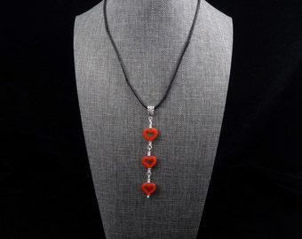 Three Hearts Pendant Necklace
