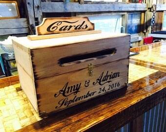 Wood Wedding Card Box with Latch   Wedding Money Box   Wedding Card Box    WeddingLocking card box   Etsy. Locking Wedding Card Box. Home Design Ideas