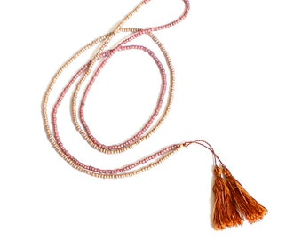Beaded Necklace/Tassel Necklace/Handmade Necklace/Beads and Tassels/Jewelry/Gift for Her/Spring Jewelry/Gift for Girlfriend/Gift for Mum