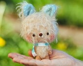 Plushie bear softie toy / miniature amigurumi plushie, blythe pet - Made to order - Lulo -