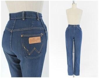 vintage 1950s Blue Bell Wrangler high waist tapered jeans | vtg 50s well worn denim | x-small
