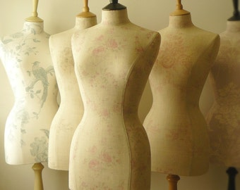 Kate Forman - you choose the fabric! Home Decor Mannequin Linen Dressform