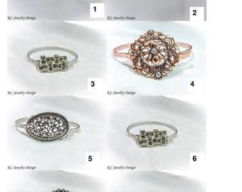 Aluminum Wire and Focal Piece Bracelet
