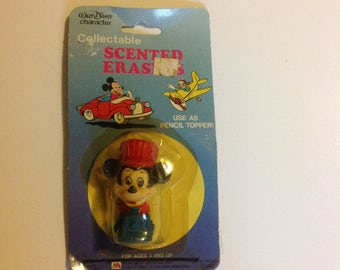 Vintage Mickey Mouse Minitures Eraser Disney