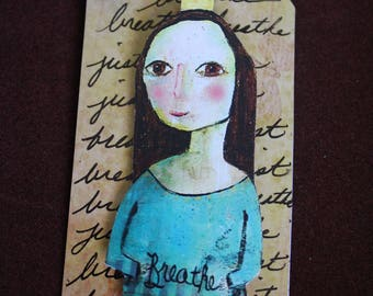 "Altered Art Tag ""Just Breathe""'''''"