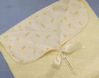 Vintage Baby Buntings/ Outerwear - Doll Clothes - Choice of Three - Yellow/ Pink