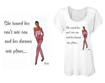 Making Dreams come true fashion illustrated shirt