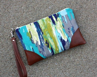 Jewel tone Wristlet / Clutch
