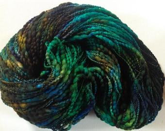 Hand painted chunky yarn merino with poly binder 200g 225 yards