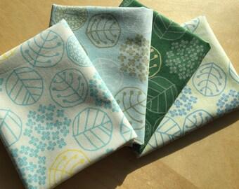 FAT QUARTER bundle Leaves Japanese cotton fabric