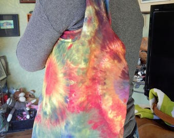 Tie Dye Womens Hobo Bag Purse Shoulder-100 percent cotton-One of a Kind-Carla Smale