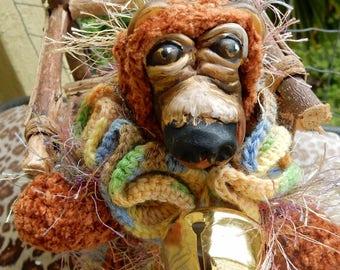 OOAK Artist Bear-Albert-Crochet Thread and Clay Bear-Carla Smale