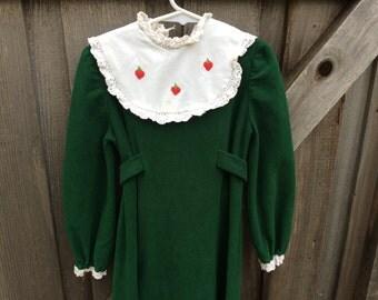 70s Fleece Dress Girls 10/12