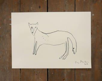 WOLF | Original Charcoal Drawing | Faye Moorhouse