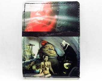 Star Wars Storybook Wallet - Slave Leia - Princess Leia and Jabba the Hutt - Han Solo in carbonite - Return of the Jedi