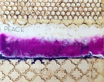original encaustic painting-   peace