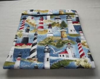 Large, Lighthouse, Microwave Potato Bag, Potato Sack, Baked Potato Bag, Kitchen Utensil, Handmade, ALL Cotton, Gift