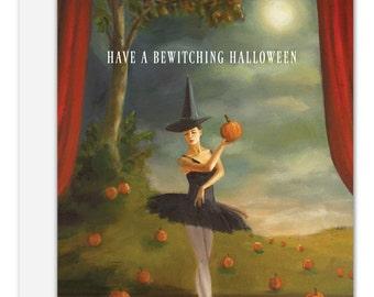 Dance of the Pumpkin Patch. Halloween Card. SKU JH1111