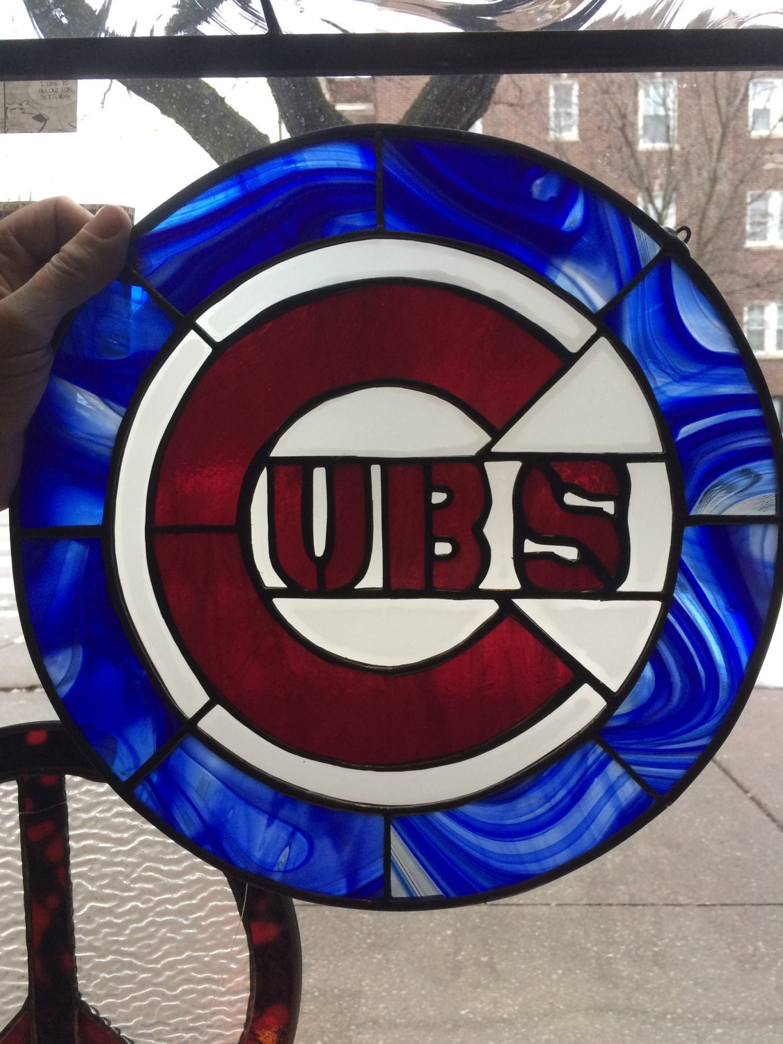 Chicago cubs symbol stained glass details chicago cubs symbol buycottarizona