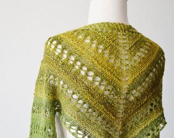 May Sale - 20% off Matcha Leif Shrug - Handspun Hand Knit Lace Shrug W/ Extra Long Sleeves in Greens. handknit, indie made, hippie, festival