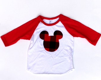 Mouse,Gender Neutral, Fabric Iron On Applique, Buffalo Plaid