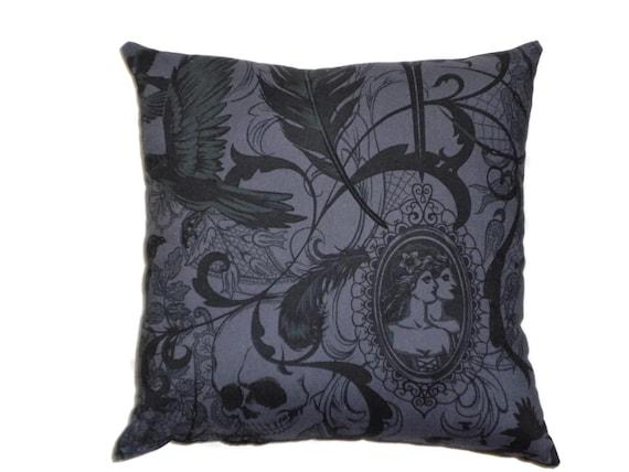 Victorian Throw Pillows : Victorian Gothic Decorative Throw Pillow Steampunk Home Decor