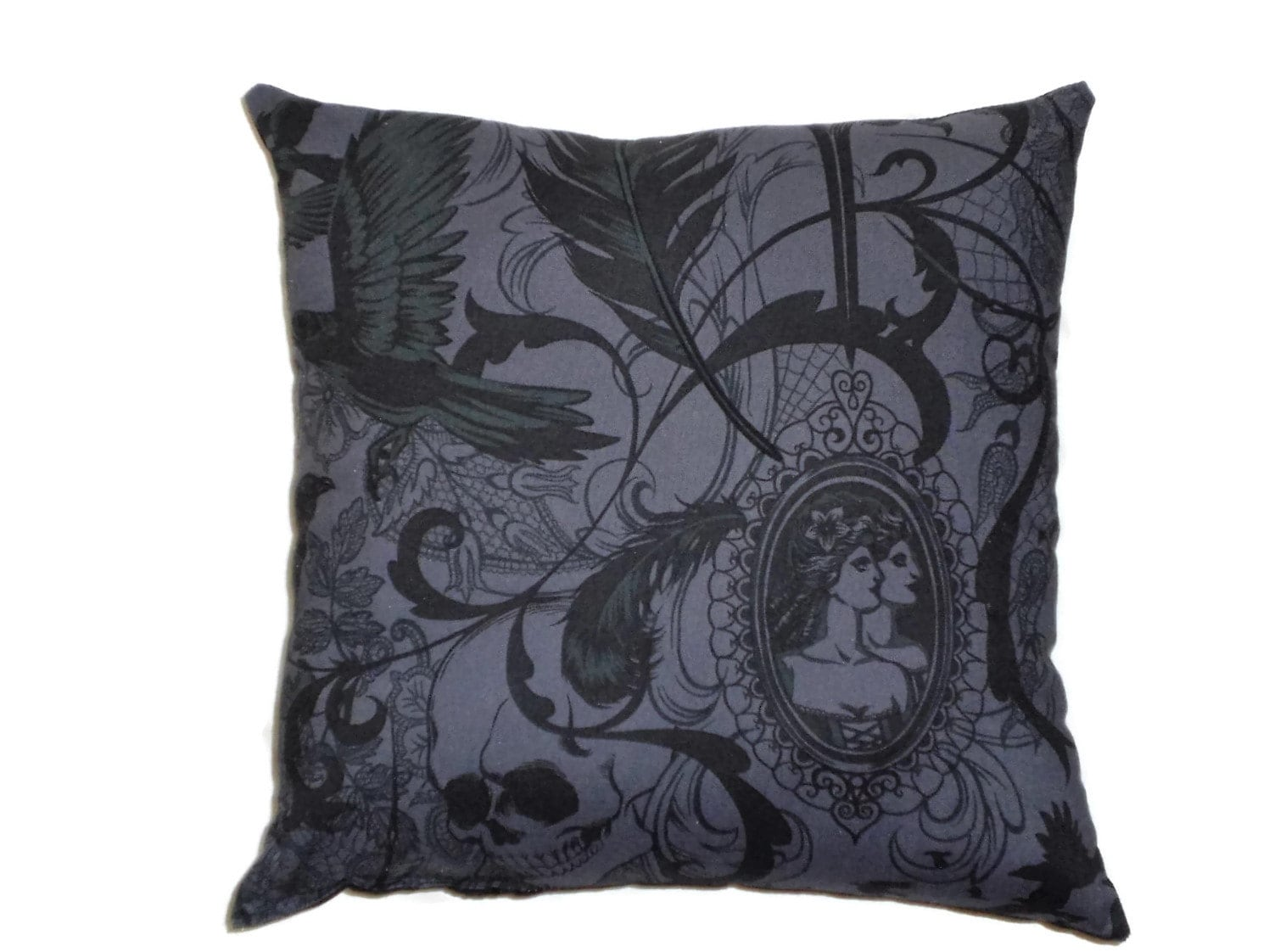 Victorian Gothic Decorative Throw Pillow Steampunk Home Decor