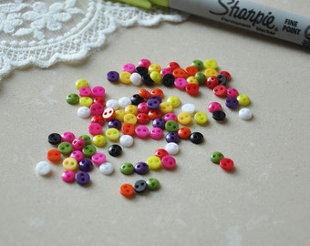 100pcs+ 5mm Tiny Round Buttons for Baby/Babydoll Clothing