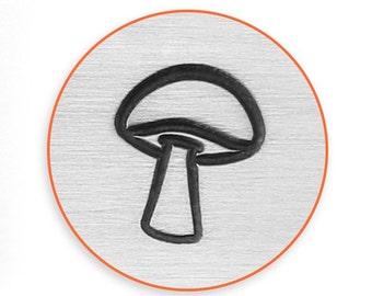 Impress Art 6mm Mushroom Metal Stamp Design Stamp  Decorative Stamp