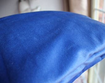 Royal Blue Minky Fabric - Some Used