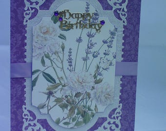 Happy Birthday Card in purple