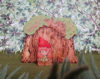 Waldorf Wooden Fairy/Gnome Door, Kids Wood Toy, 2 peice set