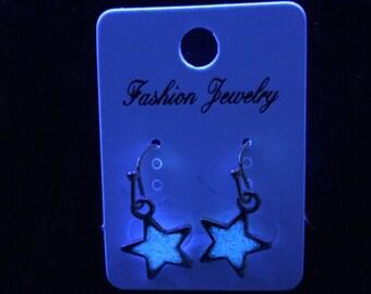 Purple / Blue Glow in the Dark Celestial Star Earrings
