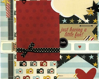 Just Having a Little Fun - Premade Scrapbook Page