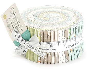 """Moda Darling Little Dickens Jelly Roll 2.5"""" Precut Fabric Quilting Cotton Strips 49000JR"""
