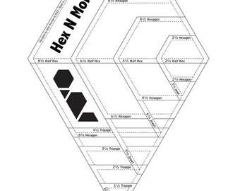 Hex N More Ruler designed by Julie Herman Jaybird Quilts Fabric Notion JBQ 201