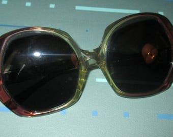 Vintage MOD 60s Oversized Sunglasses Signed Autumn American Optical