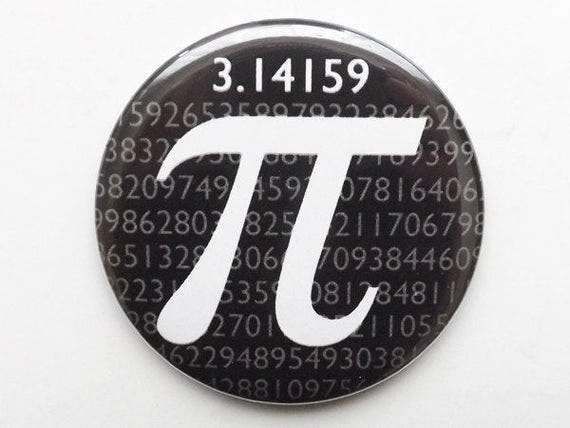 Pi Day Fridge Magnet coaster button pin logic math science novelty party favor stocking stuffers gifts geekery  graduation teacher dork nerd