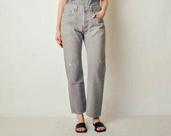 Vintage Light Gray 501 Levis Denim Jeans (32x29)