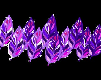 Purple Leaves Machine Embroidery Design by Letzrock  3099