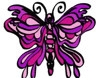 Butterfly Love Machine Embroidery Design by Letzrock  3120