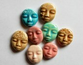 8 colorful faces