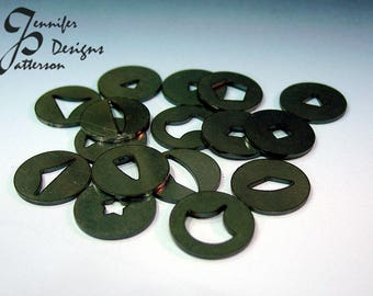 Quilted in clay  - Polymer clay extruder disks - Set #3, Polymer cane, Polymer Quilt, Extruding die, Extruding disk