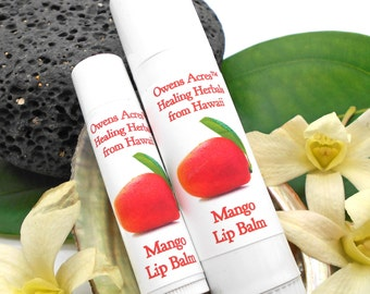 Lip Balm, Mango Lip Balm - Twist Up Tube, Lips, Lip Balm, Dry Lips, Chapped Lips, Lip Balm in a Tube, Hawaii