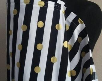 Breastfeeding  Cover, Nursing Cover, Black Stripe Nursing Cover Up