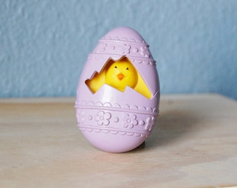1970s Easter Chick in an Egg Perfume Brooch Avon 1977 Vintage Glace