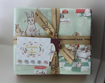 SALE 18 Fat Quarters BUNNIES & CREAM by Penny Rose Fabric from Lauren Nash