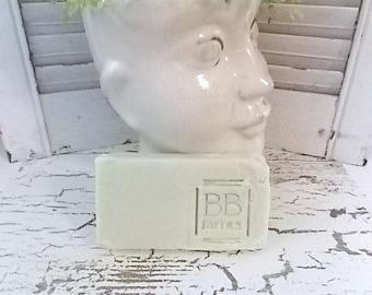 Homemade Large 5-6oz Bar of Natural Handmade Soap in FRESH CUT GRASS